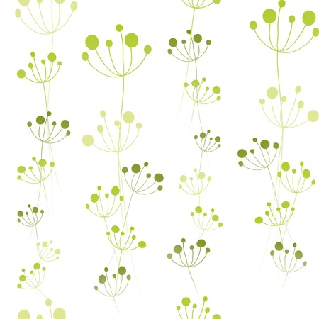 Abstract summer green floral seamless pattern Vector