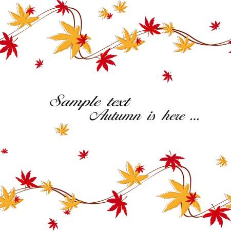Acero colorato autunno lascia senza saldatura pattern Vettoriali