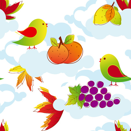 Abstract colorful autumn background  Vector