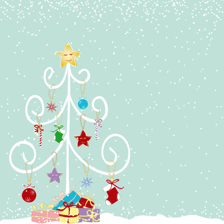 Abstract colorful christmas tree background