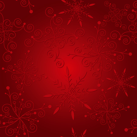 Abstract elegance red christmas snowflake seamless pattern Vector