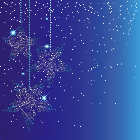 Abstract sparkle blue christmas background Stock Vector - 7935418