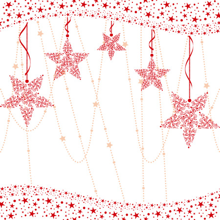 christmas motif: Abstract red christmas star background Illustration