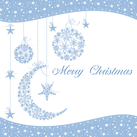 Merry Christmas greeting card Stock Vector - 8153133