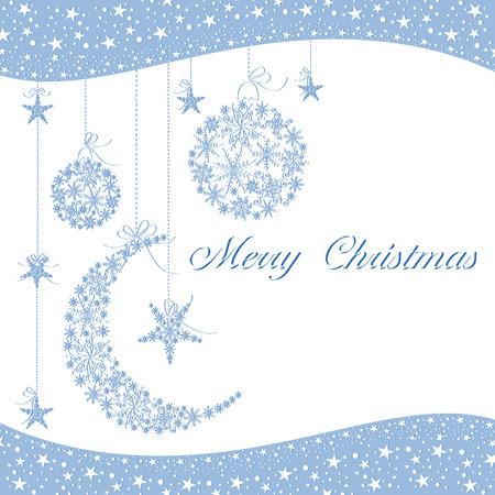 christmas motif: Merry Christmas greeting card