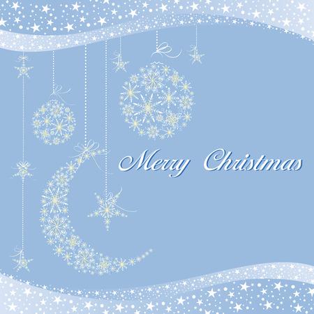 Merry Christmas greeting card Stock Vector - 8247136