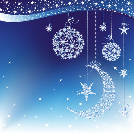 Merry Christmas greeting card Stock Vector - 8247139