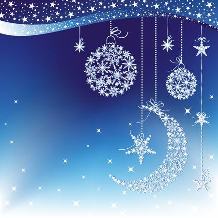 Merry Christmas greeting card Stock Vector - 8247139