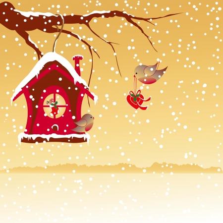 robin: Christmas greeting robin bird wallpaper