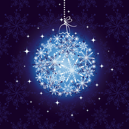 christmas motif: Abstract christmas ornament on seamless pattern background Illustration