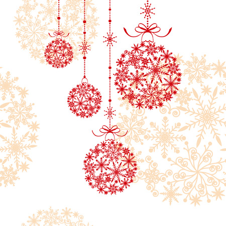 Abstract christmas ornament on seamless pattern background Stock Vector - 8380401