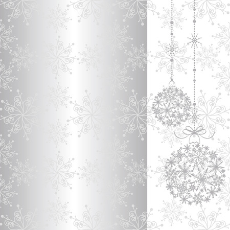 Abstract sparkling Christmas seamless pattern Illustration