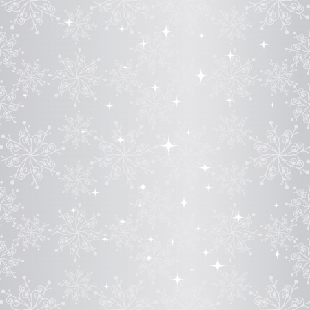 christmas motives: Sparkling sliver christmas snowflake seamless pattern