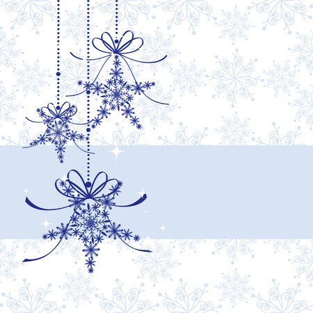 christmas motif: Sparkling Christmas snowflake seamless pattern Illustration