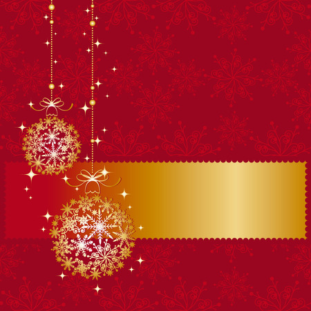 Sparkling Christmas ornament greeting card Vector