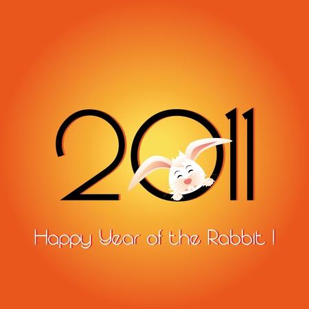 Happy Year of the Rabbit greeting card photo