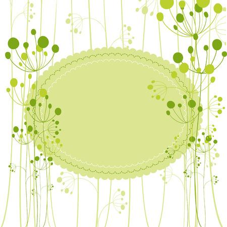 Springtime green dandelion greeting card Stock Vector - 8530667