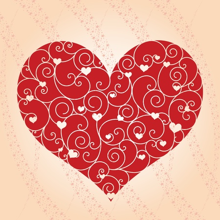 Abstract Valentine day greeting card Vector