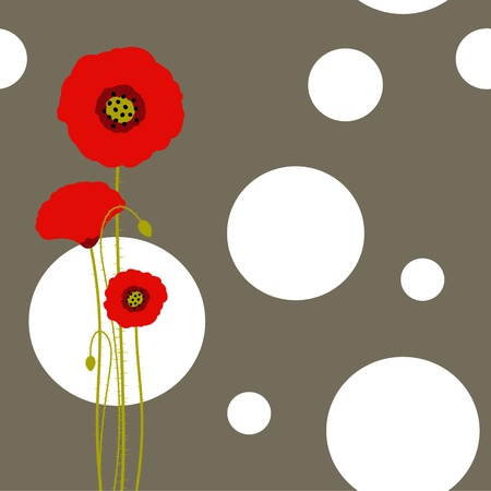 Abstract red poppy wallpaper Stock Vector - 8911886