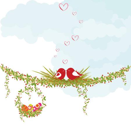 pascuas navide�as: Tarjeta de felicitaci�n de vacaciones de semana Santa de primavera
