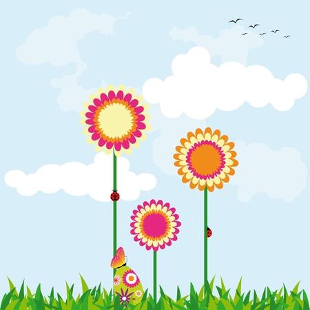 Springtime Easter holiday wallpaper Stock Vector - 8984221
