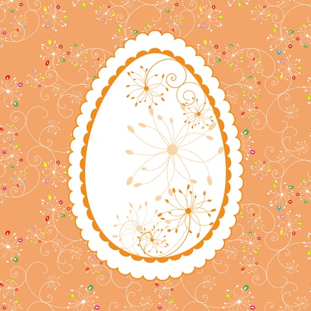 Abstract Easter holiday greeting card Stock Vector - 9054434