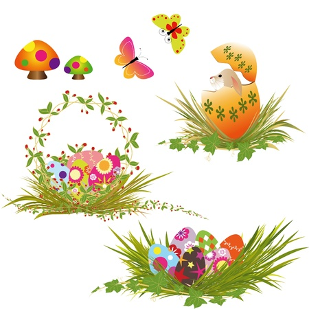 Set of Easter eggs collection Stock Vector - 9169089
