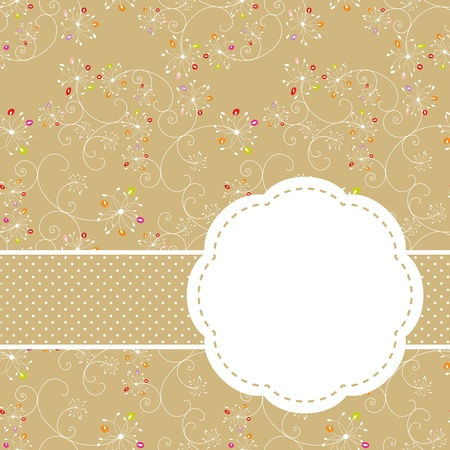 springtime flowers: Springtime colorful floral seamless pattern greeting card