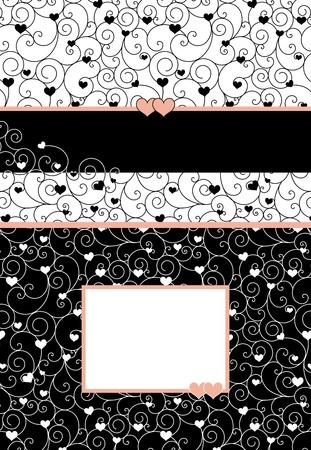 Wedding invitation card with romantic heart shape design Stock Vector - 9394934
