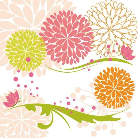 Mariposa y flor de primavera abstracto colorido daisy