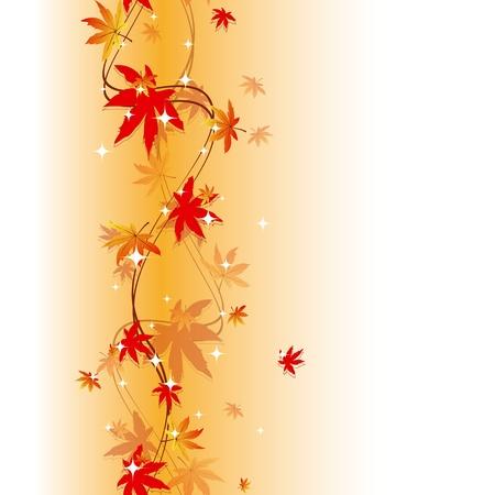 다채로운 가을 원활한 패턴을 나뭇잎