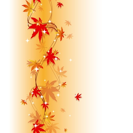 Colorful autumn leaves seamless pattern Stock Vector - 9931073
