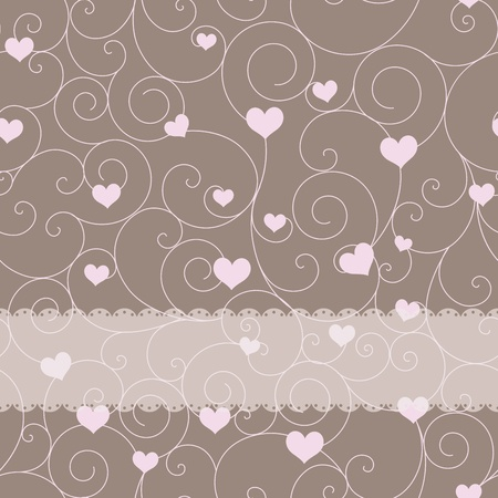 wedding card design: card design for wedding or valentines day Illustration