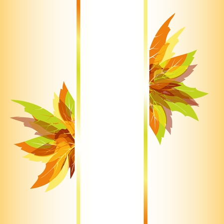Abstract colorful autumn maple leaves background Vector