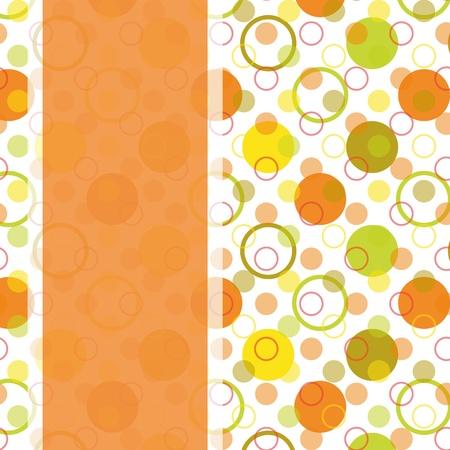 오렌지: 컬러 풀 한 물방울 무늬 원활한 패턴 빈티지 카드 디자인