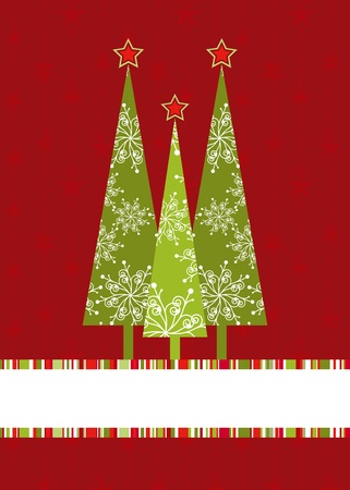 Christmas tree with starry seamless pattern background Vector