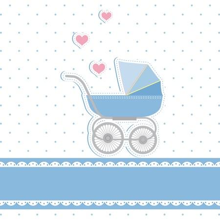 invitacion baby shower: Chico nuevo baby shower tarjeta de invitaci�n Vectores