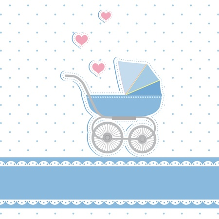 New baby boy shower invitation card Vector