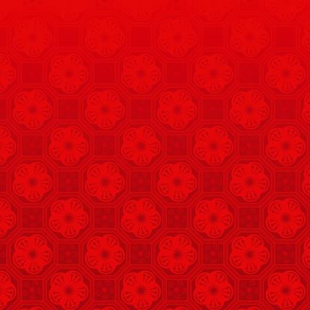chinese new year pattern: Oriental Chinese New Year cherry blossom seamless pattern background