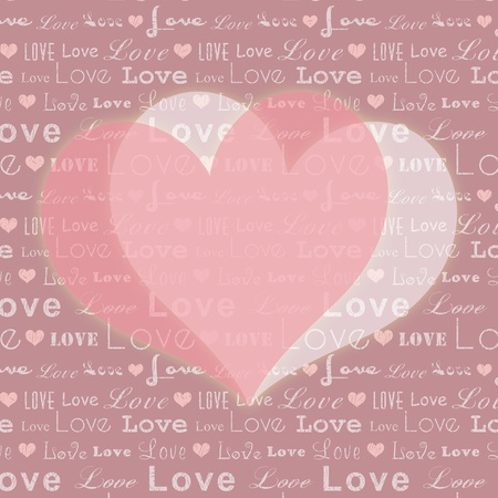 Abstract St Valentine pink white heart shape on seamless pattern background Vector