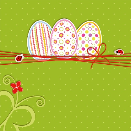 Easter holiday colorful seamless pattern background greeting card Vector