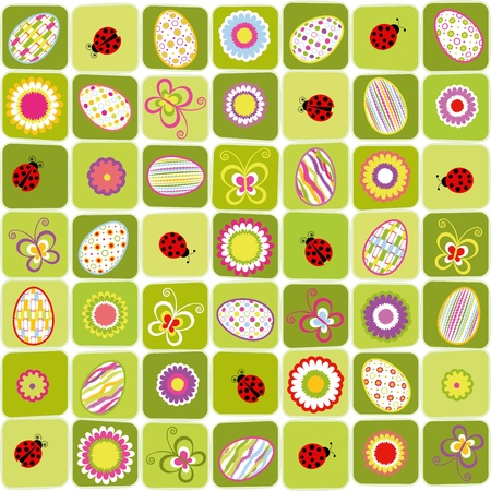 Abstract Easter holiday colorful seamless pattern background Stock Vector - 12491023