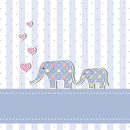 baby elephant: New baby shower invitation card