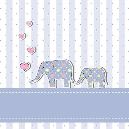 Nueva ducha bebé tarjeta de invitación Foto de archivo - 12801532