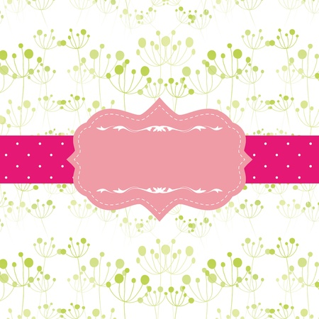 Abstract seamless pattern background with pink ornate frame Vector
