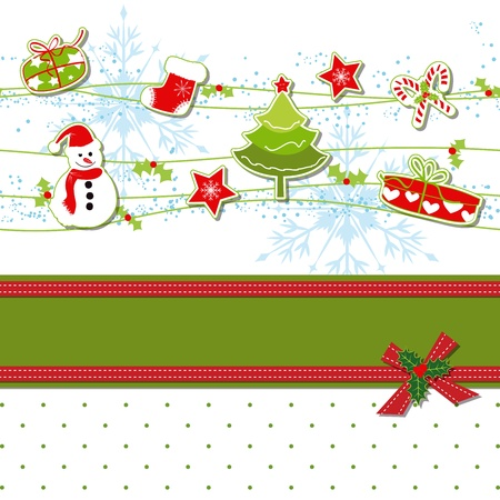 Christmas ornament greeting card Stock Vector - 13991553