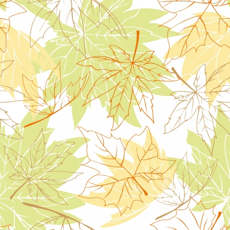 Colorful autumn leaves seamless pattern Stock Vector - 14091422
