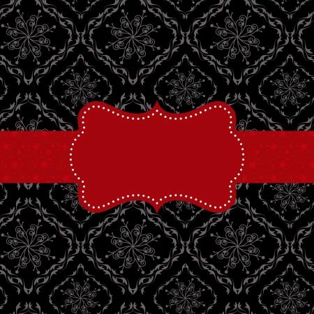 ностальгический: Аннотация бесшовные узор фона с красными декоративными кадров