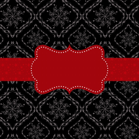Abstract seamless pattern background with red ornate frame