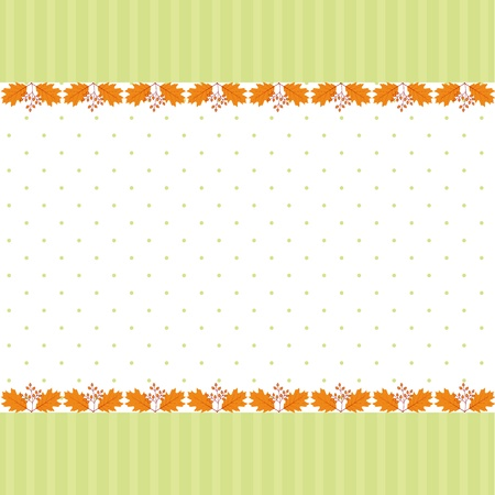 Abstract autumn leaf seamless pattern greeting card Stock Vector - 14492723